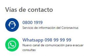 Vías de Contacto del MSP